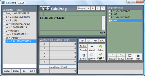 Calc.Prog rodando no Windows Vista