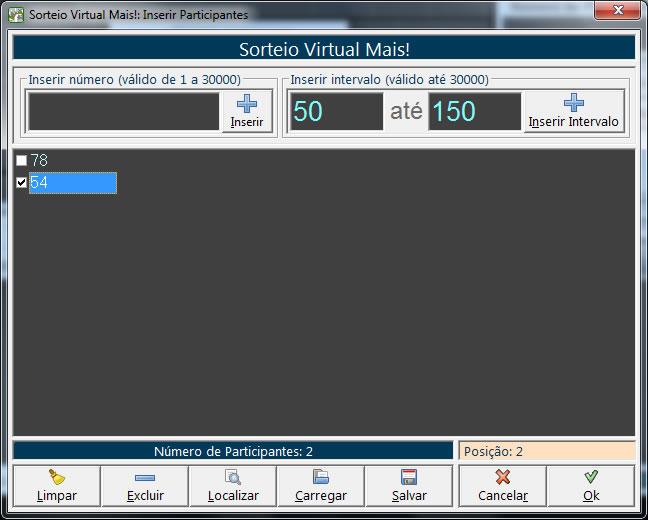 Sorteio Virtual Bingo! 2.3