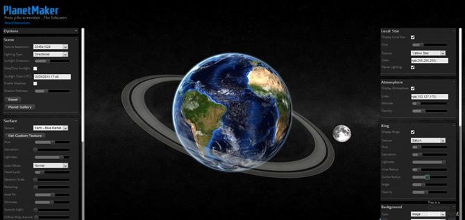 Criador de Planetas